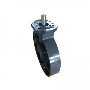UPVC butterfly valve flat shaft drive
