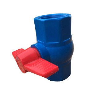 PVC octagonal ball valve Blue body
