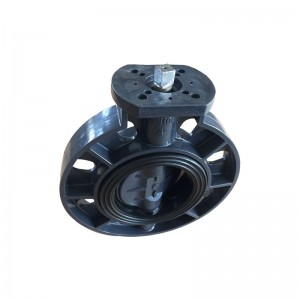 UPVC butterfly valve Square head stem