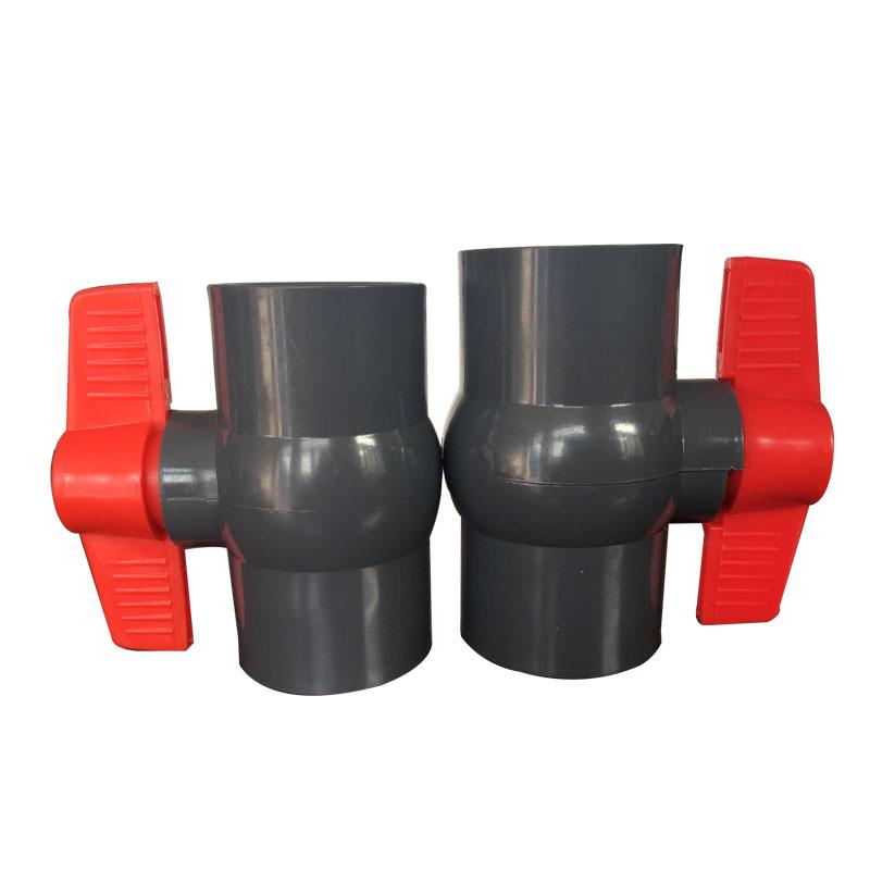 PVC ball valve Gray body Featured Image