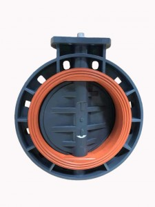 UPVC butterfly valve Square head stem Mounting pad ISO5211