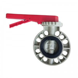PPH butterfly valve EPDM lined