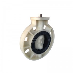 PP butterfly valve Square head bare shaft EPDM seat