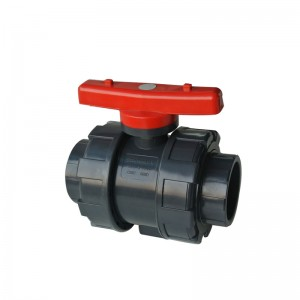 UPVC double union ball valve