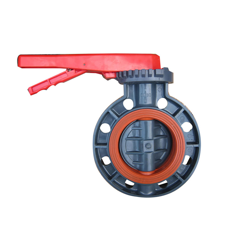 manual handle lever or gearbox UPVC butterfly valve FPM VITON lined Featured Image