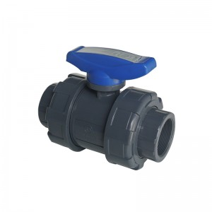 UPVC double union ball valve BS Thread
