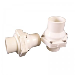 UPVC flap swing check valve White