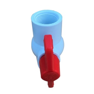 PVC boul valv Blan Threaded