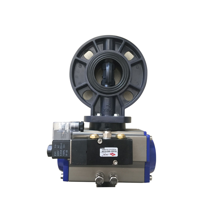 UPVC pneumatic butterfly valves with solenoid valve Featured Image