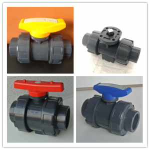 excellent quality factory price pvc pph double ture union ball valve