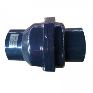 UPVC swing check valve horizontal installation