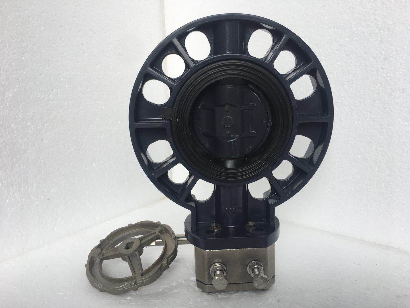 durable quality stainless steel reduction gearbox pvc butterfly valve Featured Image