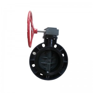 UPVC butterfly valve Reduction gear drive