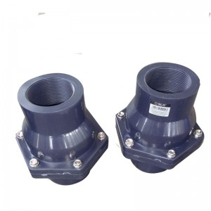 UPVC mashirika kurudi valve swing kuangalia Threaded
