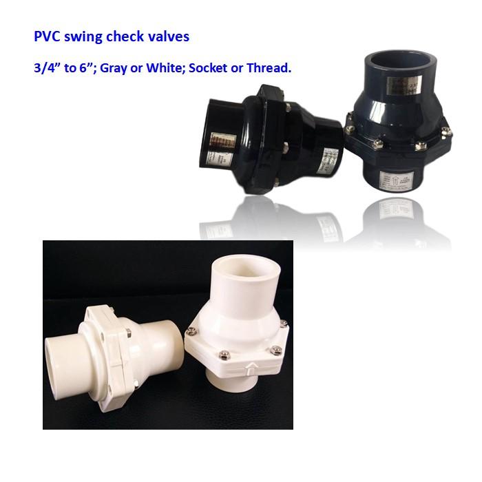 UPVC gray white plastic no return swing check valve one way valves