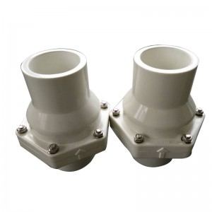 UPVC swing check valve White body