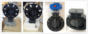 PVC/PP/PPH Actuated Butterfly Valves