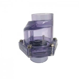 DN40 50mm socket transparent eccentric pvc clear swing check valve
